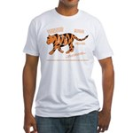 Tiger Facts Fitted T-Shirt