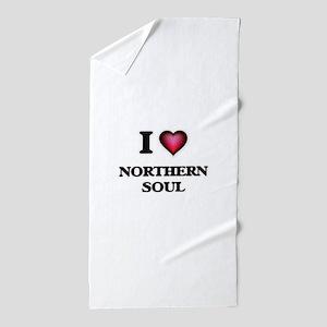 I Love NORTHERN SOUL Beach Towel