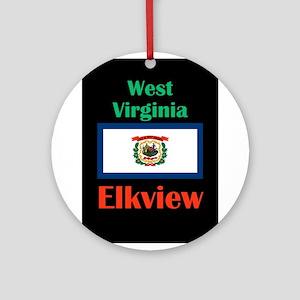 Elkview West Virginia Round Ornament
