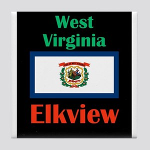 Elkview West Virginia Tile Coaster