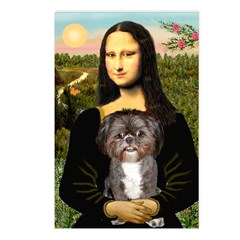 Mona / Shih Tzu(br&w) Postcards (Package of 8)