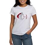 Smiley Emoticon - Santa Hat Women's T-Shirt