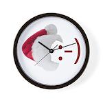 Smiley Emoticon - Santa Hat Wall Clock