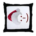 Smiley Emoticon - Santa Hat Throw Pillow