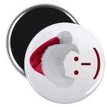 Smiley Emoticon - Santa Hat Magnet