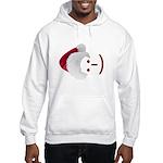 Smiley Emoticon - Santa Hat Hooded Sweatshirt