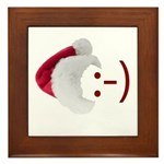 Smiley Emoticon - Santa Hat Framed Tile