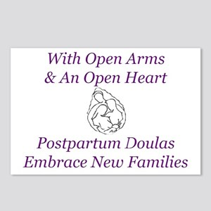 Postpartum Doula Embrace Postcards (Package of 8)