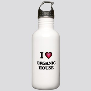 I Love ORGANIC HOUSE Stainless Water Bottle 1.0L