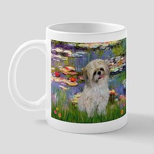 Lilies /Shih Tzu (p) Mug