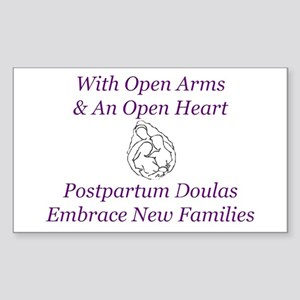 Postpartum Doula Embrace Rectangle Sticker