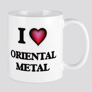 I Love ORIENTAL METAL Mugs