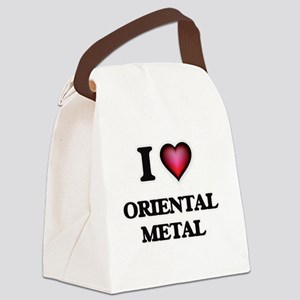 I Love ORIENTAL METAL Canvas Lunch Bag