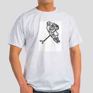 Hockey skater outline Light T-Shirt