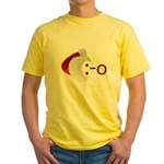 Oh! Emoticon with Santa Hat Yellow T-Shirt