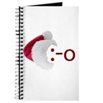 Oh! Emoticon with Santa Hat Journal