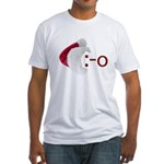 Oh! Emoticon with Santa Hat Fitted T-Shirt