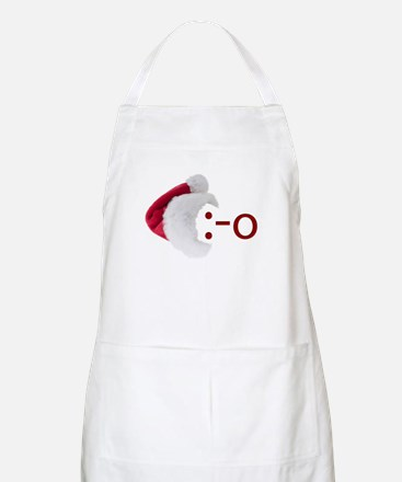 Oh! Emoticon with Santa Hat BBQ Apron