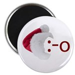 Oh! Emoticon with Santa Hat Magnet
