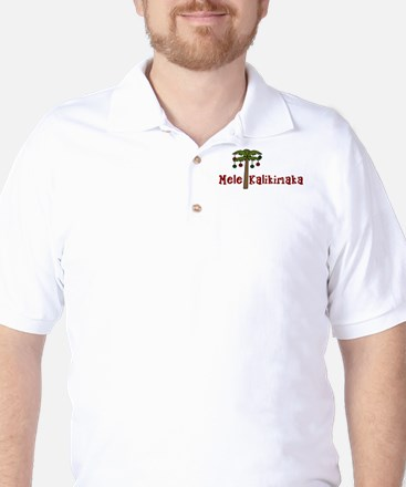 Hawaiian Christmas Golf Shirt