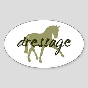 Sage Sidepass Dressage Oval Sticker