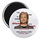 Hillary Power Hungry Magnet