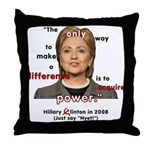 Hillary Power Hungry Throw Pillow