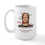 Hillary Power Hungry Large Mug