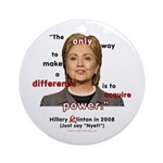 Hillary Power Hungry Ornament (Round)