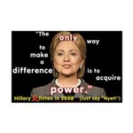 Hillary Power Hungry Mini Poster Print
