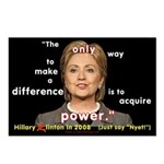 Hillary Power Hungry Postcards (Package of 8)