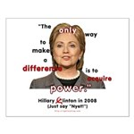 Hillary Power Hungry Small Poster