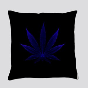 Deep Blue Cannabis Everyday Pillow