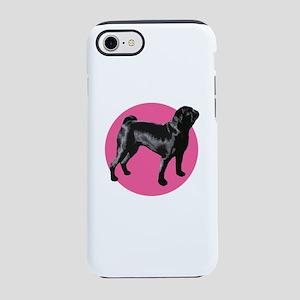 Black Pug Portrait iPhone 8/7 Tough Case