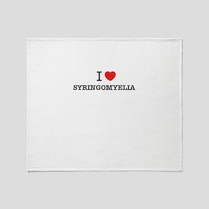 I Love SYRINGOMYELIA Throw Blanket
