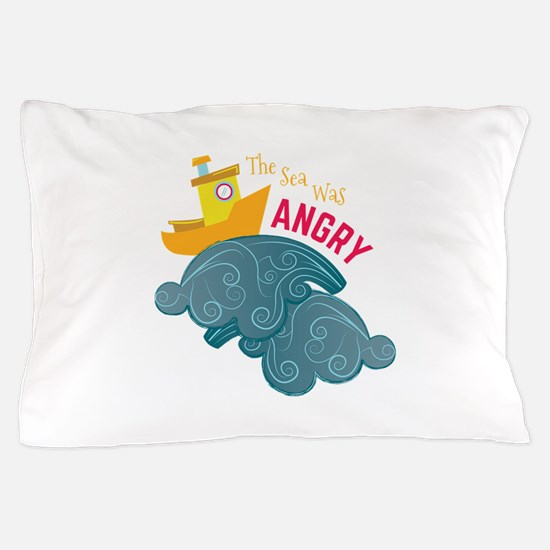 Angry Sea Pillow Case