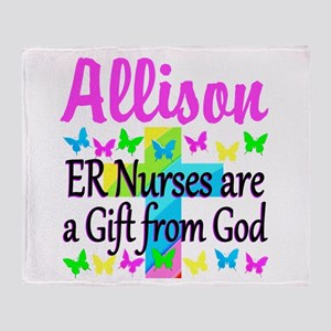 ER NURSE PRAYER Throw Blanket