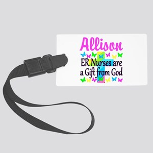 ER NURSE PRAYER Large Luggage Tag