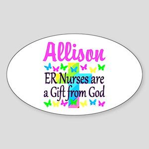 ER NURSE PRAYER Sticker (Oval)