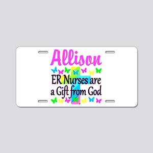 ER NURSE PRAYER Aluminum License Plate