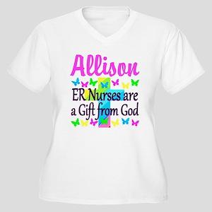 ER NURSE PRAYER Women's Plus Size V-Neck T-Shirt