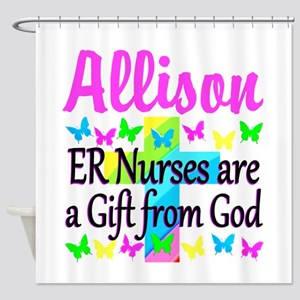 ER NURSE PRAYER Shower Curtain