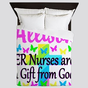 ER NURSE PRAYER Queen Duvet