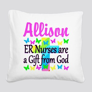 ER NURSE PRAYER Square Canvas Pillow