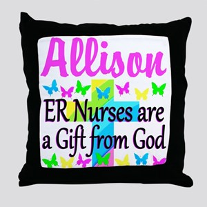 ER NURSE PRAYER Throw Pillow
