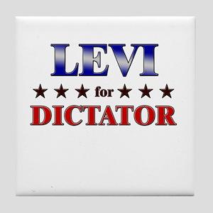LEVI for dictator Tile Coaster