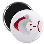 Frown Emoticon in Santa Hat Magnet