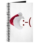 Frown Emoticon in Santa Hat Journal