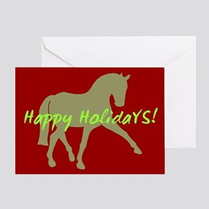 Dressage Horse Happy Holidays Greeting Card