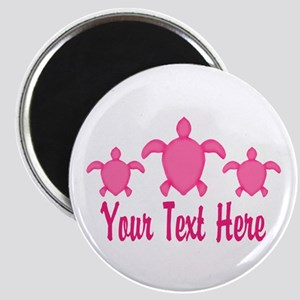 Pink Sea Turtle Name Magnets